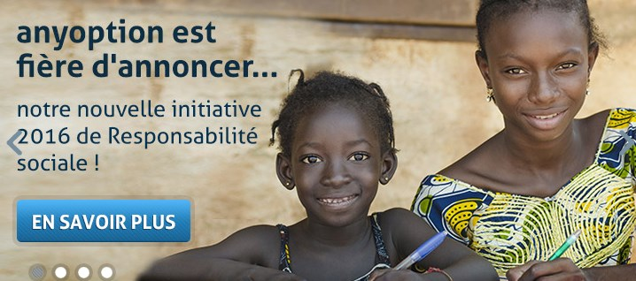 AnyOption et l'Unicef